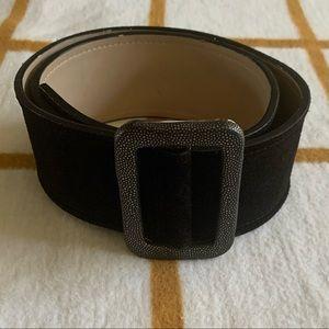 Cole Haan black suede belt